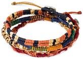 "Wakami World Bracelet 4 Strands - Brown Tones (8"")"