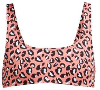 Reina Olga Rocky Leopard-print Bikini Top - Womens - Pink Multi
