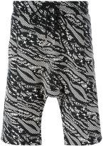 Les Benjamins zebra print shorts