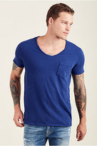 True Religion Chest Pocket V Neck Mens Tee