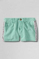 Classic Little Girls 5-pocket Twill Shorts-Light Jade
