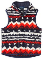 Ralph Lauren Boys' Sherpa Fleece Print Vest - Sizes 4-7