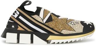 Dolce & Gabbana comet print Sorrento sneakers