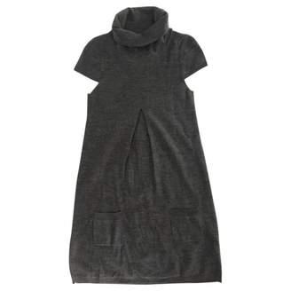 Ikks Grey Wool Dress for Women