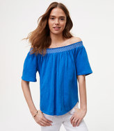 LOFT Petite Off The Shoulder Tee