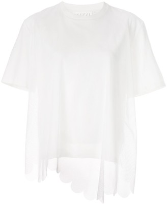 PASKAL clothes mesh-layered T-shirt