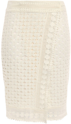 BA&SH Cold Crocheted Cotton Wrap Skirt