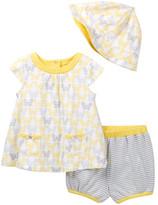 Offspring Butterfly Top, Short, & Hat Set (Baby Girls 12-24M)
