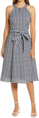 Gibson Gingham Belted Midi Dress