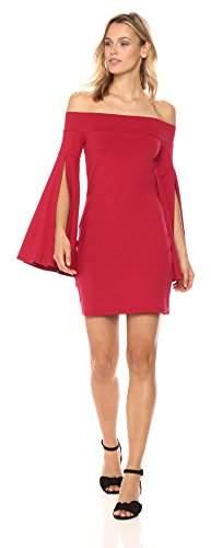 Susana Monaco Women's Kaelea Off The Shoulder Long Sleeved Dress