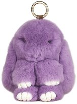 SCIONE Cute Easter Rabbit Bunny Doll Keychain for Women Bag Charms or Car Pendant