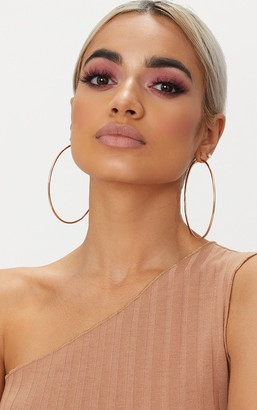 Ice Rose Gold 80mm Large Hoop Earrings