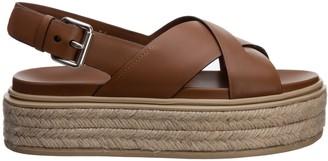 Prada Criss Cross Flatform Sandals