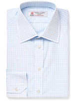 Turnbull & Asser - Blue Slim-fit Checked Cotton Shirt