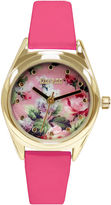 JCPenney Decree Womens Floral Print Dial Watch