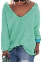 Moonpin Women's Long Sleeve Fall Winter Sweater V-neck Locker Mode Cardigan XXL