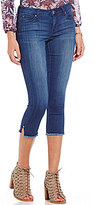 Celebrity Pink Mid Rise Frayed Hem Stretch Skinny Crop Jeans