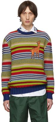 Gucci Multicolor Deer Sweater