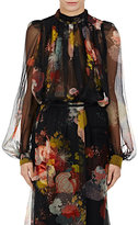 Dries Van Noten Women's Coady Silk Organza Trapeze Top