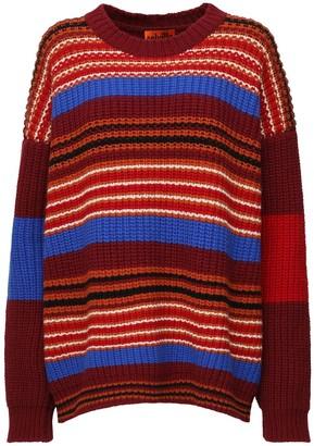 Colville Over Striped Rib Knit Intarsia Sweater