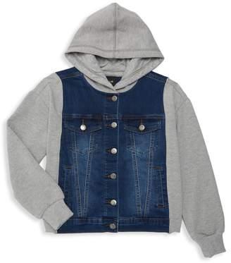 Joe's Jeans Boy's Hooded Denim Jacket