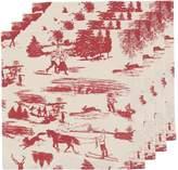 Now Designs Napkins, Set of Four, Holiday Toile Print