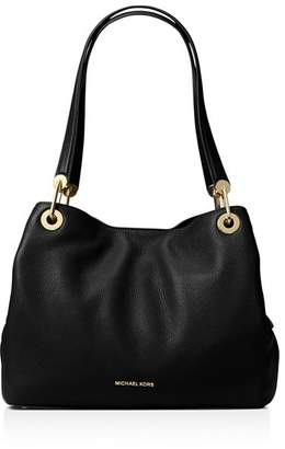 MICHAEL Michael Kors Raven Large Pebbled Leather Shoulder Tote