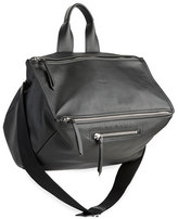 Givenchy Men's Pandora Leather Crossbody Bag, Black