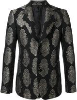 Alexander McQueen paisley brocade blazer - men - Cotton/Polyamide/Polyester/Metallic Fibre - 48