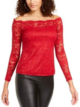 Thalia Sodi Lace Off-The-Shoulder Top, Created For Macy's