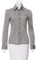 Philosophy di Alberta Ferretti Striped Button-Up Top