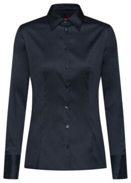 HUGO BOSS Slim-fit blouse in easy-iron poplin