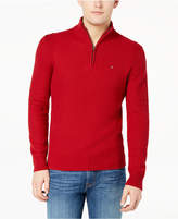 Tommy Hilfiger Men's Quarter-Zip Waffle Knit Sweater