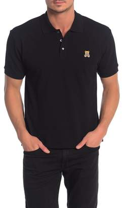 Moschino Short Sleeve Solid Knit Polo