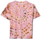 Raquel Allegra Sueded Baby Jersey Oversize Tee in Pink Eclipse Tie Dye