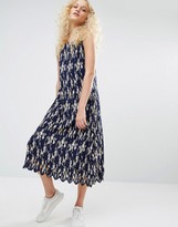 I Love Friday Pleated Cami Dress In Floral Print