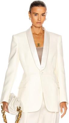 Wardrobe NYC Tuxedo Blazer in White | FWRD