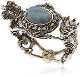 Alexander McQueen Skeleton Queen & King Labradorite Ring