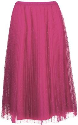 RED Valentino Polka-Dot Tulle Midi Skirt