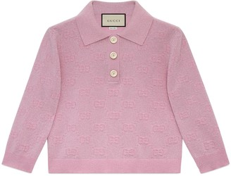 Gucci GG sparkling wool cropped polo