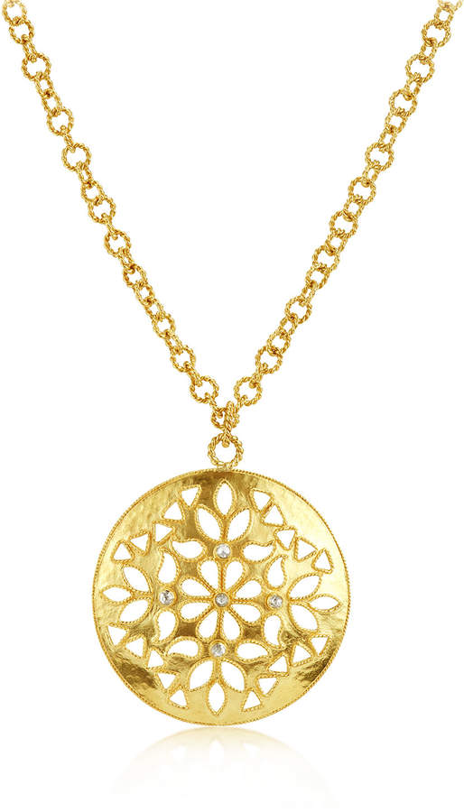 Amrapali Legend Large Shevanti Disc Pendant Necklace with Diamonds 32