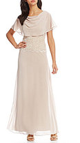 Jessica Howard Draped Mock 2-Piece Gown
