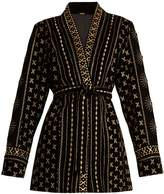 DODO BAR OR Sendy embroidered velvet kimono jacket