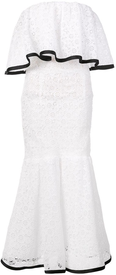 Carolina Herrera Off-Shoulder Lace Dress