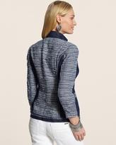 Chico's Denim Mix Tweed Jacket