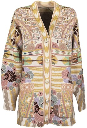 Etro Jacquard Cardigan With Pegaso Buttons