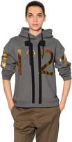 N°21 Hooded Printed Cotton Jersey Sweatshirt