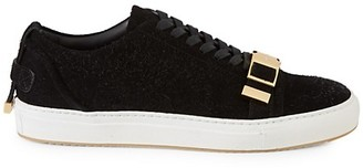 Buscemi Buckled Hairy Suede Sneakers