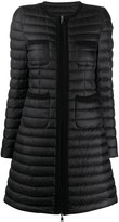 Moncler patch pockets flared padded jacket