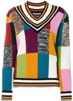 House of Holland colour block grid jumper